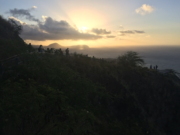 Views once you're up on top of the Diamond Head crater rim
